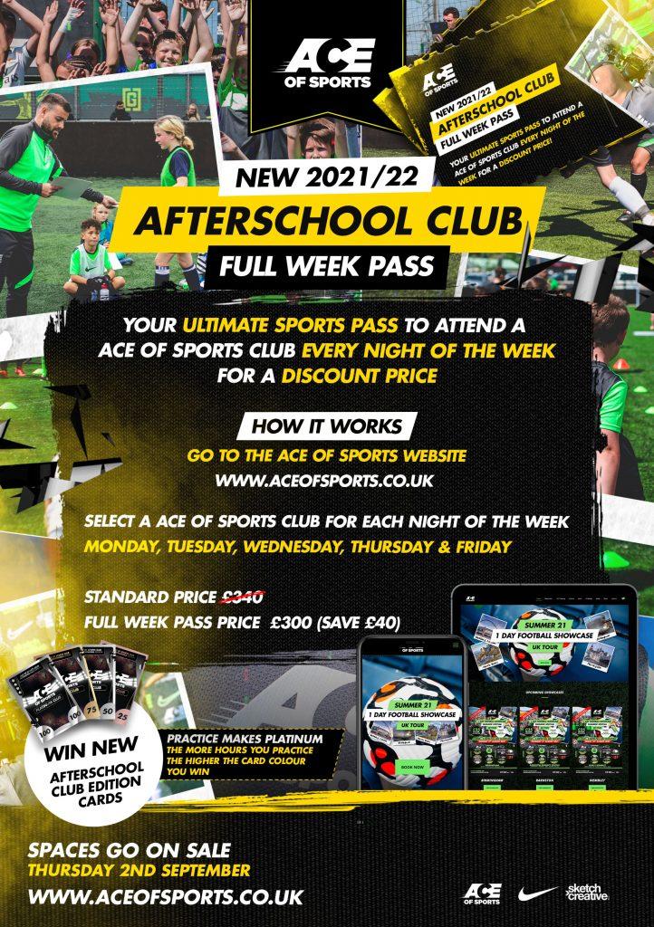 NEW 2021/22 AFTERSCHOOL CLUB FULL WEEK PASS